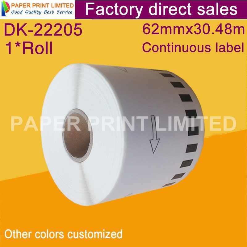 1X Roll Saudara Kompatibel Label DK-22205 DK-2205 DK22205 DK2205