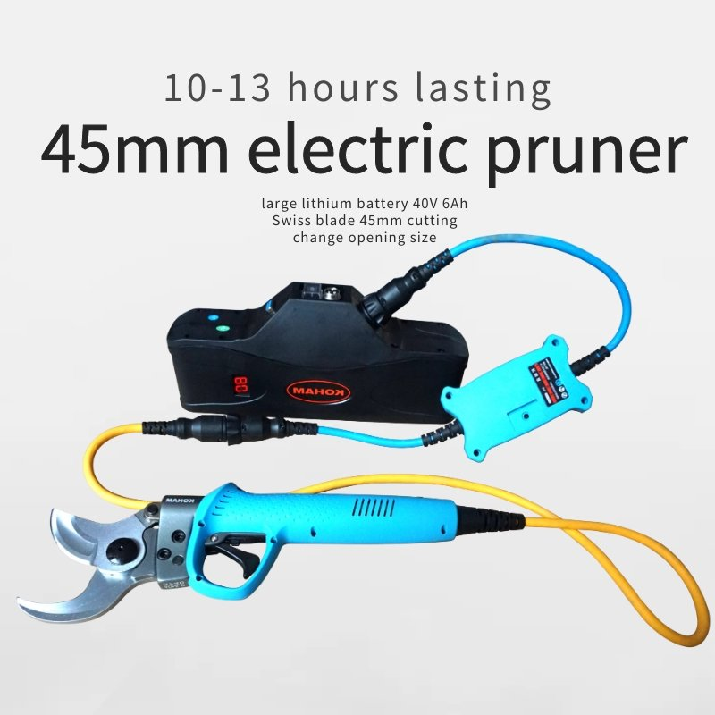 45mm electric pruner 40V 6Ah  12 hour lasting battery pruning shears