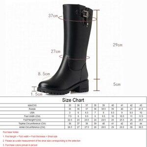 Image 3 - AIYUQI kobiety wełniane śniegowce 2020 kobiet prawdziwej skóry kobiet zimowe buty zimowe duże rozmiary 41 42 kobiet rycerz buty buty