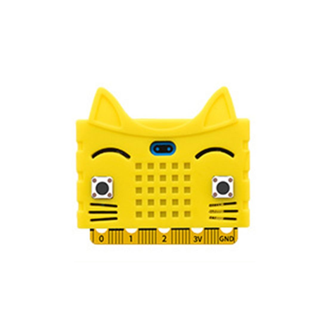 Экологичное уплотнение/тигр/в форме кота силиконовый защитный корпус Крышка корпуса для Micro: Плата расширения бита Bue/красный/оранжевый - Цвет: 10