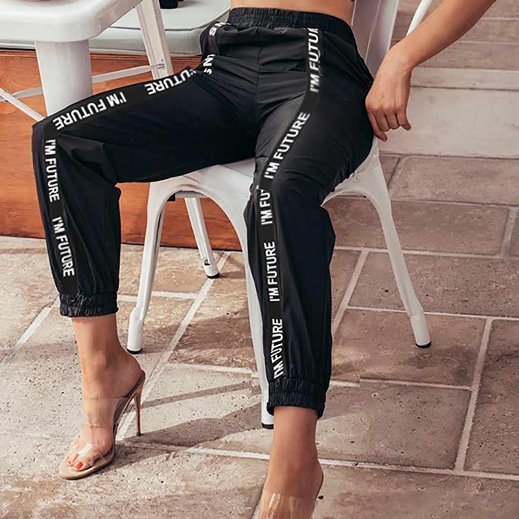 """Quần Thể Thao Nữ Cao Cấp Thư Dài Thun Bỏ Túi Thời Trang Quần Cá Tính Pantalones Mujer """"Hip Hop OY41 *"""