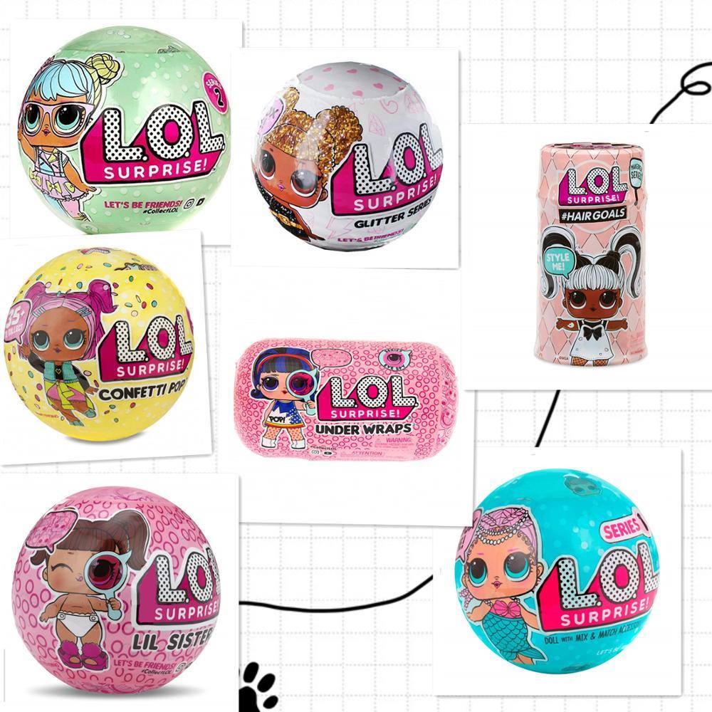 1 pièces LOLs poupées L.O.L. SURPRISE! Poupées poupées pour animaux de compagnie série 1 2 3 buts de cheveux sous les WARPS confettis POP ptit soeur poupées