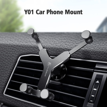 Metal Gravity Bracket Car Phone Holder Air Vent Mount Support Mobile Stand For iPhone Samsung Xiaomi Huawei