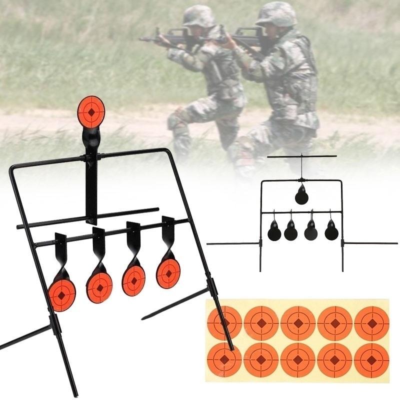 New Shooting Target 5 Targets Automatic Resetting Air Gun Rifle Pistol Shooting Metal Target Set Spinning Outdoor Hunting