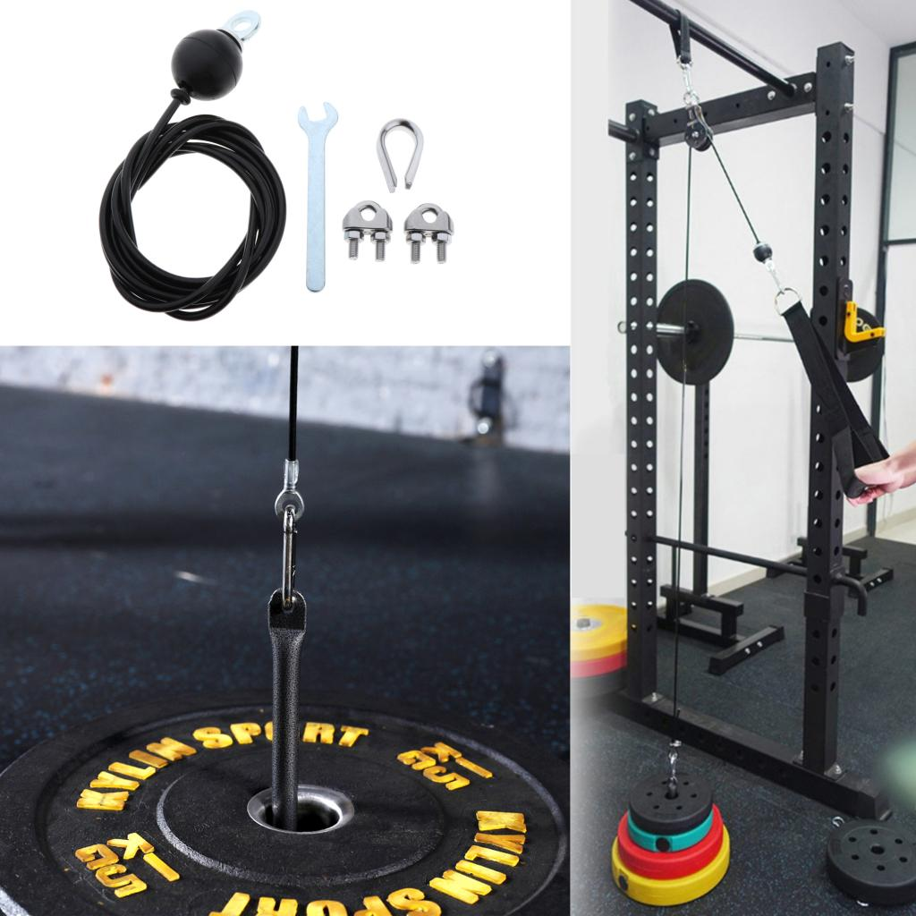 2.5/2m Home Gym Fitness Pulley Cable Adjustable Heavy Duty Steel Wire Gym Eqiupment Triceps Back Chest Rope Cable