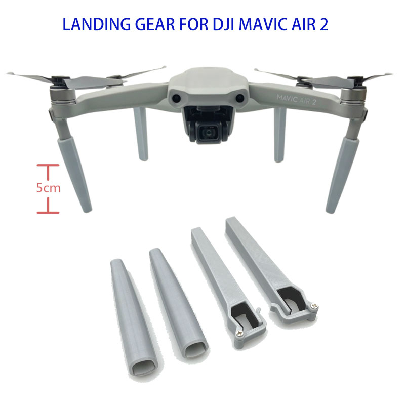 4pcs set For DJI Mavic Air 2 Landing Gears Heightened Extension Support Landing Legs Bracket for Mavic Air 2 Drone Accessories