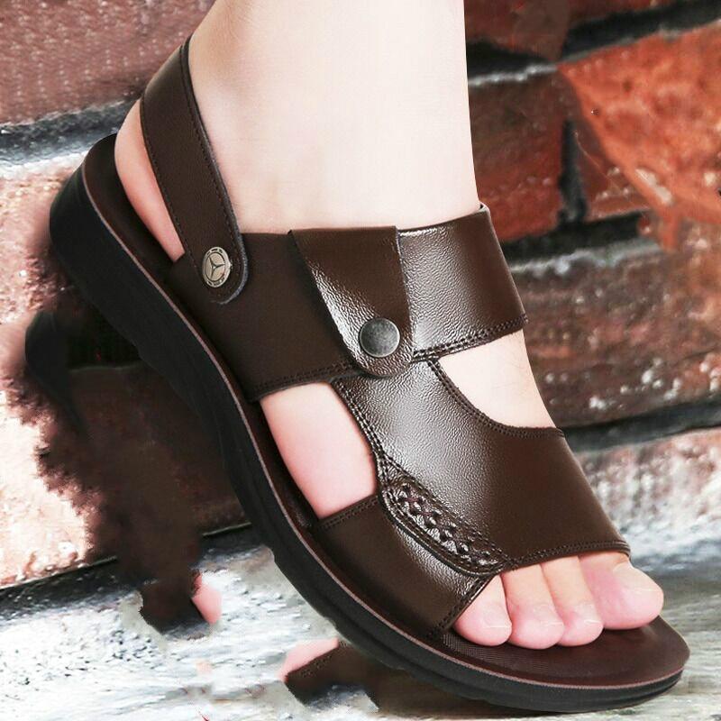 Summer Men Sandals Genuine Leather