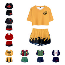 Anime NARUTO Uchiha Itachi Cosplay kostiumy Konaha Sasuke Kakashi dziecko koszulka dla dorosłych Tee szorty bluza garnitur odzież sportowa nowy