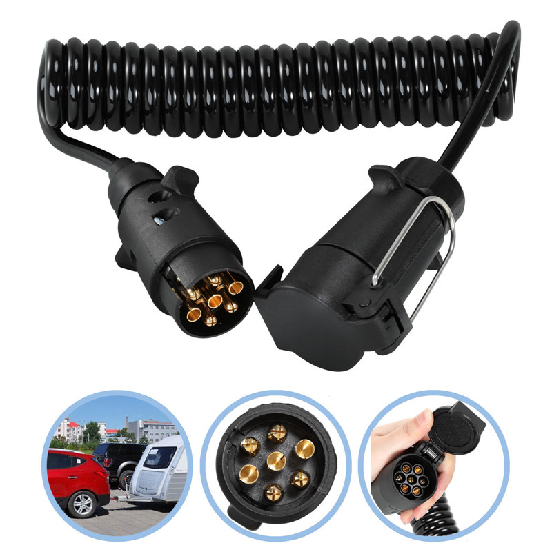 3M 7 Pin Trailer Truck Light Board Extension Cable Lead Male To Female Wire Plug Socket Extension Cord Wiring Caravan