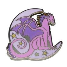 Moon dragon badge pastel fantasy costume addition