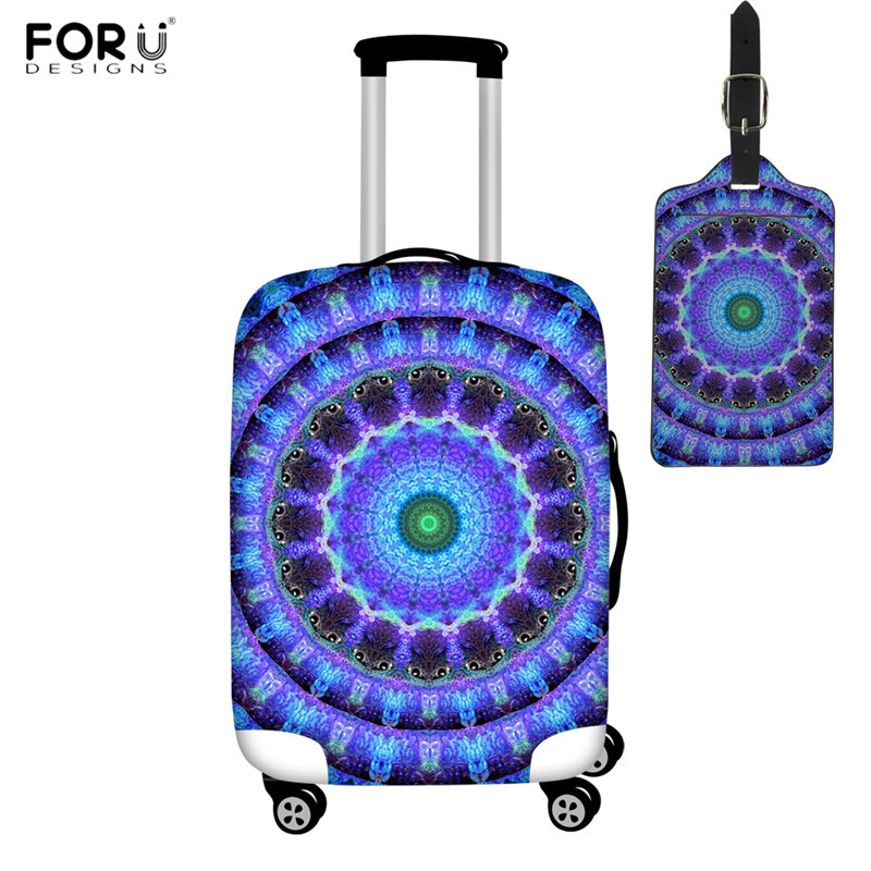 FORUDESIGNS Radiant Core Spiritual Pattern Suitcase Cover Elastic Luggage Protective Cover For Travel Bag Anti-dust Trolley Case
