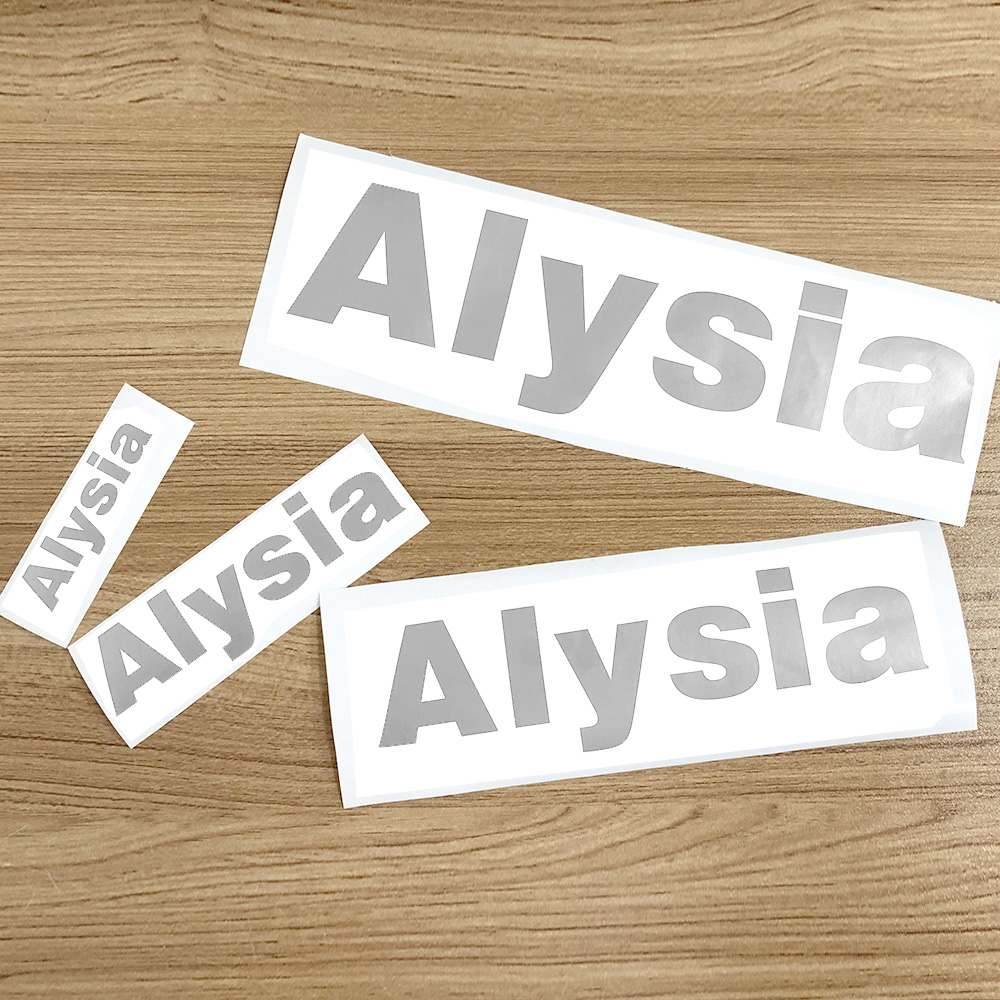 1Pcs Silver Color Vinyl Custom Name Cuting Stickers PVC Name Label Waterproof Tags For Water Bottle Lanch Box Personal Craft