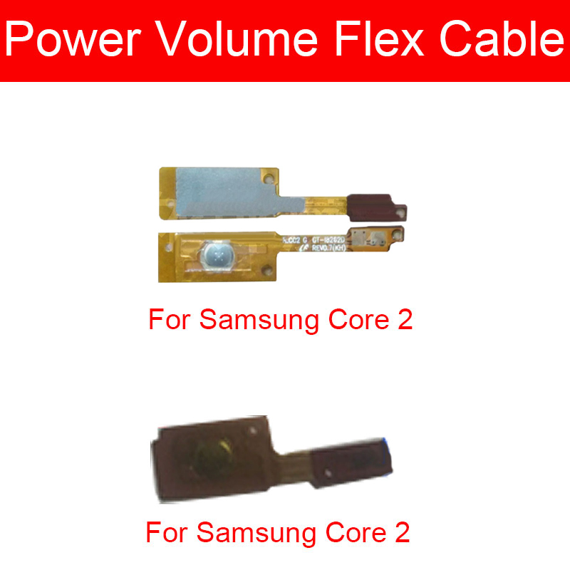 Гибкий кабель ВКЛ/ВЫКЛ для Samsung Galaxy Core 2 II Dual SIM SM-G355H G355H I8262 кнопка переключения боковая гибкая лента
