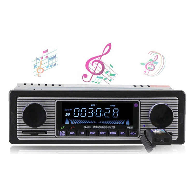 Bluetooth Auto Radio Stereo In-Dash Auto MP3 Multimedia Player Stereo USB/AUX Klassische Stereo mit Fernbedienung