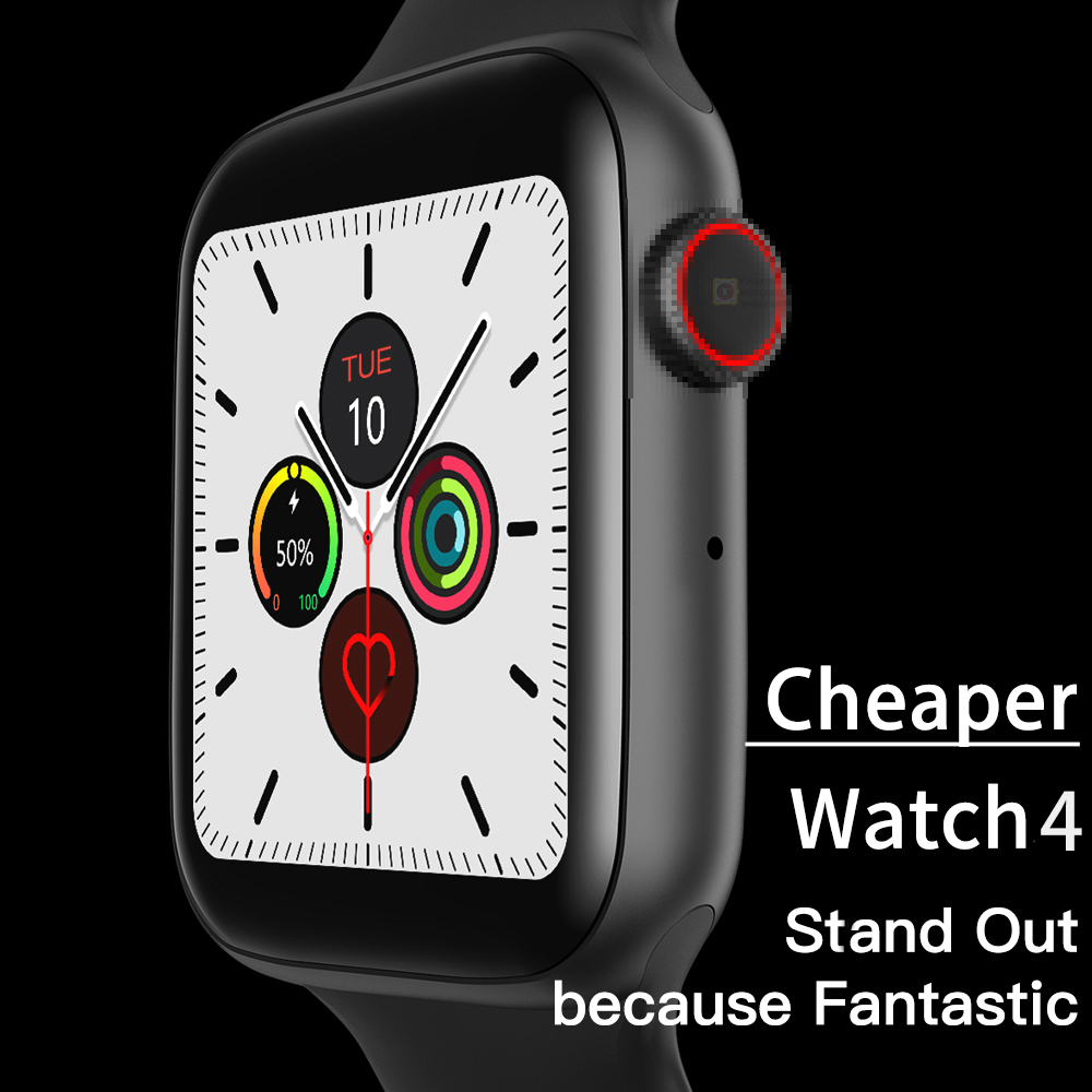 2020 New Series 4 Smart Watch Men Women Watch Waterproof Heart Rate Tracker Sport Clock Watch Smart For Apple Android IWO8 12 13