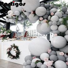 20 piezas, 30 unidades, 50 unidades, 5 pulgadas, 10 pulgadas, globos grises Pastel, globo de decoración para boda, suministros de fiesta de cumpleaños