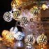 3M 6M Ball LED Light String zasilany z baterii Christmas Garland lampki dekoracja sypialni na przyjęcie świąteczne weselne