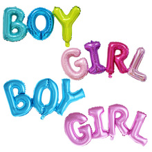 1pc 92*36cm Link Baby Boy Girl Letter Foil Balloons Kids Birthday Party Baby Shower Gender Reveal Decoration Supplies baby shower balloons blue pink boy girl foil ballons kids gender reveal first 1st birthday party kids party decorations supplies