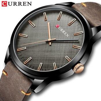 Мужские кварцевые часы с большим циферблатом CURREN