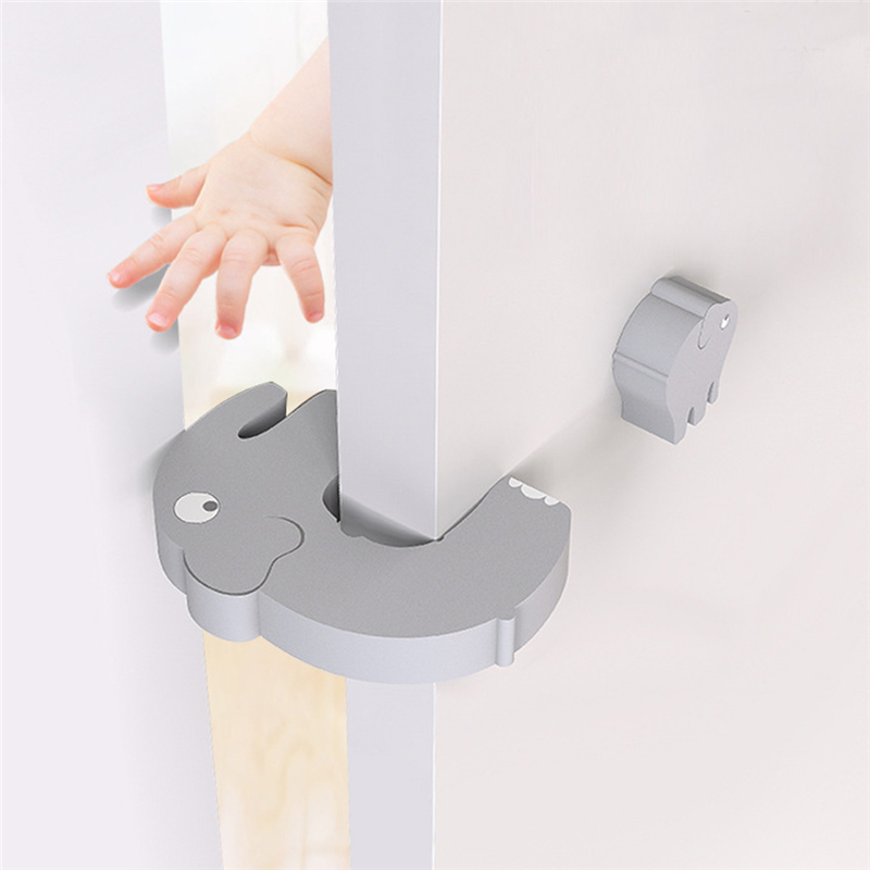 Cute Animal Security Door Stopper Protection Baby Safety Baby Card Lock Newborn Care Child Finger Protector Edge Corner Guards
