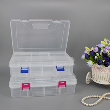 Double-layer 8-cell transparent plastic box Two-layer eight-cell detachable storage box
