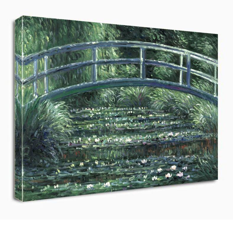 Le pont japonais (l'étang des nénuphars) de Claude Monet Art Reproduction peinture à l'huile sur toile Art mural pour la décoration intérieure