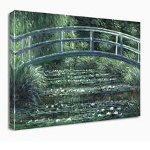 The Japanese Bridge (The Water-Lily Pond) by Claude Monet Art Reproduction Oil Painting on Canvas Wall  for Home Decor