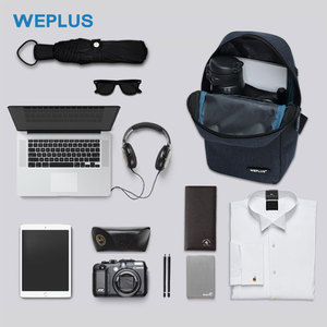 Image 4 - Weplus crossbody 가방 남자 여자 방수 가슴 가방 팩 안티 절도 어깨 가방 남자에 대 한 작은 가방 usb 헤드폰 와이어 포트