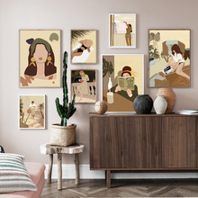 Abstract Minimalism Fashion Modern Woman Nordic Posters And Prints Wall Art Canvas Painting Wall Pictures For Living Room Decor abstract minimalist sexy line woman wall art canvas painting nordic posters and prints wall pictures for living room home decor