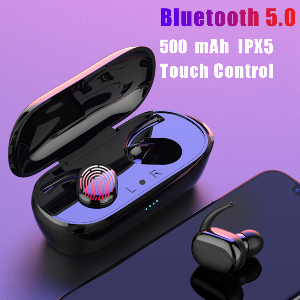 Y30 TWS Fingerprint Touch Bluetooth 5 0 Earphones Wireless 4D Stereo Headphones Noise Cancelling Gaming Sport Waterproof Headset