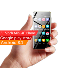 Ulcool U2 Карманный 4G-LTE смартфон 3,15 дюймов Android 8,1 MT6739 четырехъядерный Google Play Store мобильный телефон разблокированный мобильный телефон