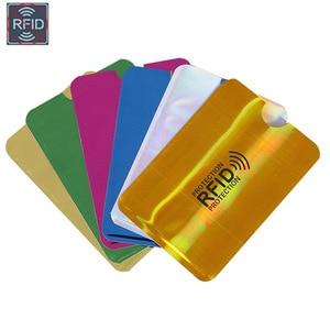 Anti Rfid de aluminio de 2/5 Uds., lector de bloqueo de billetera, tarjetero para tarjetas bancarias, funda de Metal para tarjetas de crédito, soporte NFC 6,3*9,1 cm