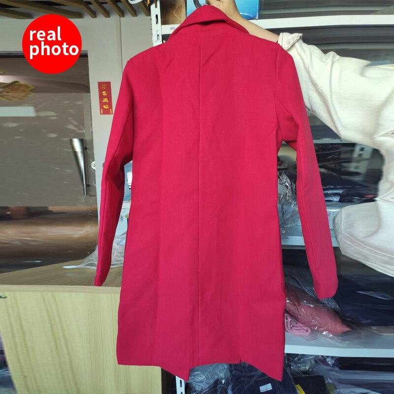 Winter Coat Women Korean Wool Coat Women Ladies Female Winter Blue Red Coats Monteau Femme Outwear