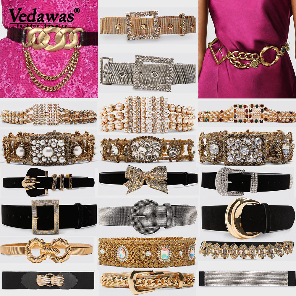 Vedawas 2019 Boho New Belly Chain For Women Wedding Simulated Pearls Handmade Cute Girl Gift Belt Accessories Body Jewelry