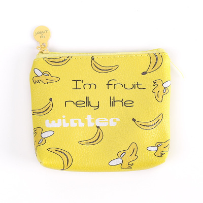 Корейская мультяшная Милая косметичка на молнии, Женская Мини-парусиновая Студенческая креативная Мужская простая сумка для монет