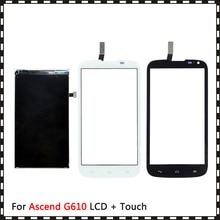 חדש באיכות גבוהה 5.0 עבור Huawei Ascend G610 Lcd תצוגה עם מסך מגע Digitizer חיישן