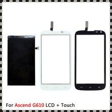 Новый высококачественный ЖК дисплей 5,0 дюйма для Huawei Ascend G610, с цифровым преобразователем сенсорного экрана