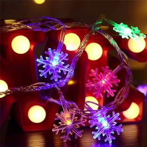 10/20/40 LED Снежинка крытый светильник гирлянды Батарея питание Рождественские огни лампы для отдыха и вечеринок Свадьба для создания сказочной атмосферы на открытом воздухе светильник s