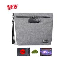 Smell Proof Bag with Combination Lock Odor Proof Stash Case Container for Herbs; Medicine Lock Box Bag Travel Storage Case