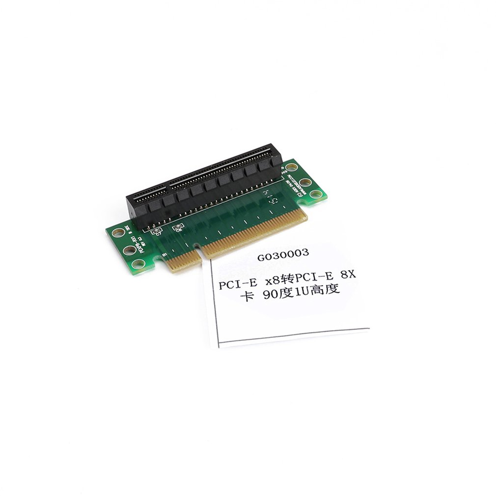 PCI- Express 8x Riser Card 90-degree Right-angle Adapter Card 1U Height Computer Server PCIe Socket Adapter