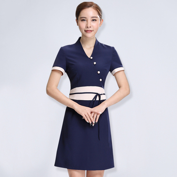 2020 design spa clothing beauty salon work uniforms hospital v neck short sleeve nurse uniform