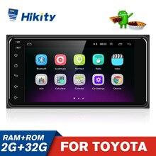 Hikity 2din Auto Multimedia Player GPS 2Din Android Audio Radio Stereo Wifi für Toyota Corolla VIOS CROWN CAMRY HIACE PREVIA RAV4