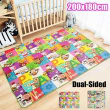 Baby Crawling Play Mat Fun Environmental Protection Carpet Kid Educational Odorless Game Blanket Children Activity Double Sides(China)