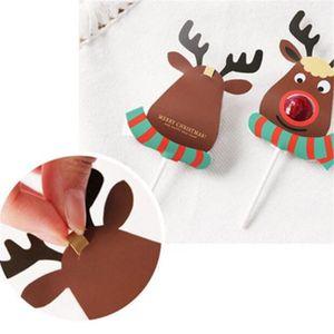 Image 5 - 25 個紙ロリポップカバーヘラジカデザイン誕生日の結婚式のキャンディーケーキ装飾ツールクリスマスのギフト包装箱