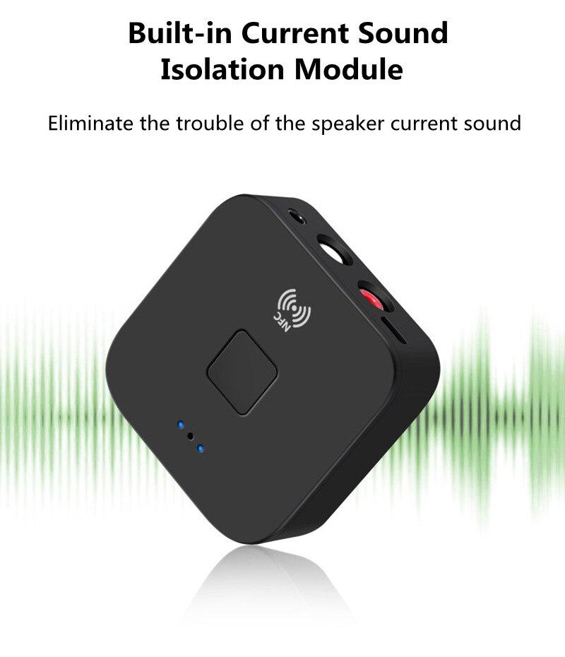 NFC Bluetooth Wireless Stereo Audio Music Receiver Adapter USB RCA 3.5mm Speaker