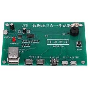 Image 5 - MOOL 3 ב 1 USB כבל שלישייה Tester טעינת כבל מבחן כרטיס Tpye C מיני USB MiniUSB PCB לוח נתונים חוט מבחן מתקן
