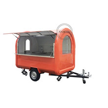Dostawa fabrycznie grill przyczepa do żywności ulicy mobilne lody Hot Dog kawy wózek spożywczy Bubble Tea wózek sprzedażowy Kiosk