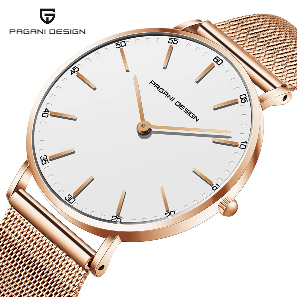 PAGANI DESIGN Ultra Thin Women Quartz Watch Ladies Stainless Steel Gold Wrist Watch For Women Female Clock Relogio Feminino