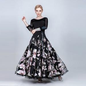 Image 5 - שמלות נשים אולם נשפים שמלת בנות סלוניים ואלס שמלת שוליים סטנדרטי חברתי שמלת ריקוד ללבוש