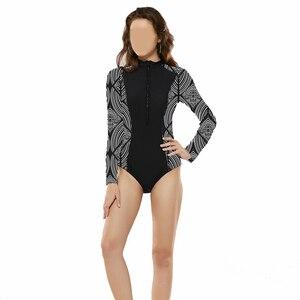 Image 5 - Traje de baño de cobertura total para mujer de Hao Fan, traje de baño islámico, trajes de baño modestos para la playa